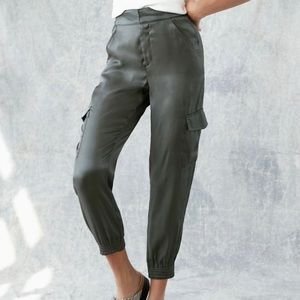 NWT Anthropologie Shimmer Cargo Joggers